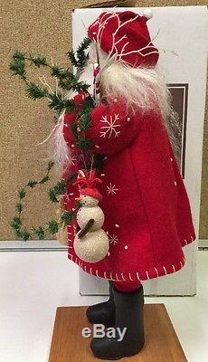 Vtg Lynn Haney Santa Claus #1288 Mr Snowflake 1988 W Box