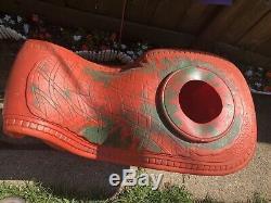 Vtg Rare 1960s Santa Claus Sleigh Poloron Christmas Yard Decor Blow Mold
