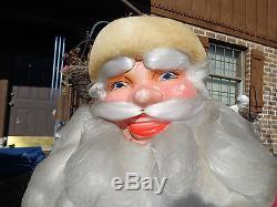 Vtg Santa Claus SAK'S 5TH AVE Store Display Harold Gale 46 w Mica Platform