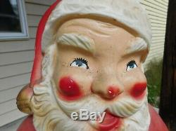 Vtg c1966 Beco 976 Lighted Motorized Rocking Santa Claus Blow Mold 40 Working