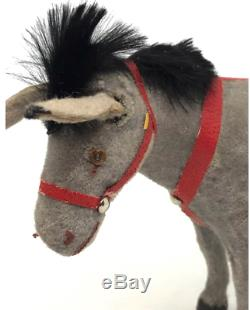 WG21 Santa Claus Donkey Mule Papermache Toy Figure Christmas German 1930's