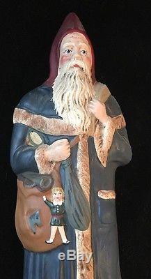 Walnut Ridge Collectibles Folk Art Christmas Santa Claus 1996 Signed