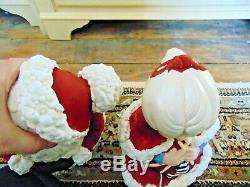 Winking Santa Claus & Mrs Claus Atlantic Mold 20 1978 Ceramic Christmas Large