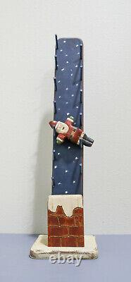 Wolf Creek Wooden Folk Art Clickity Clack Santa Claus Toy Stunning