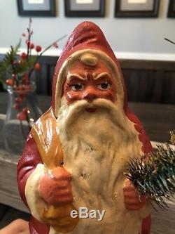 X-Large Vintage Antique Pre-WWII German Santa Claus Candy Container Belsnickel