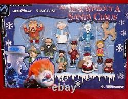 YEAR WITHOUT A SANTA CLAUS 11-pc PVC FIGURINE SET! Heat miser +snow miser figure